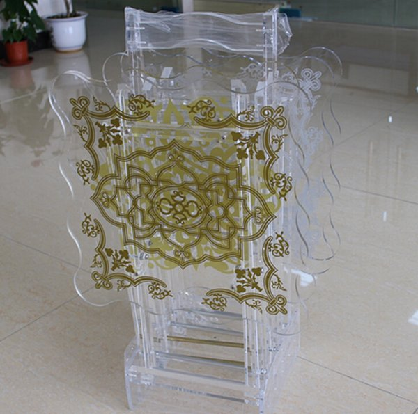 Folding mini clear small acrylic table acrylic living room table,customized acrylic mini table OEM mini table