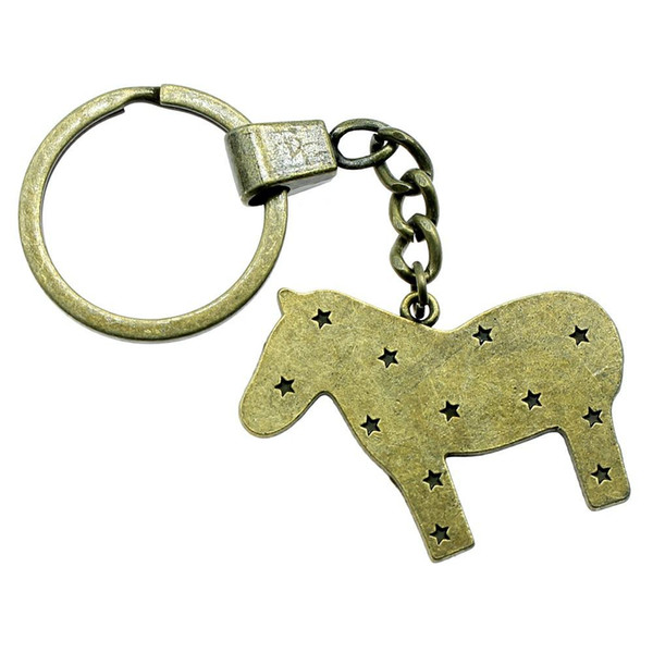 6 Pieces Key Chain Women Key Rings Fashion Keychains For Men Horse 43x35mm