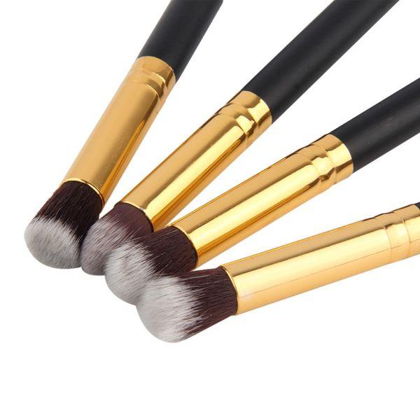 4pcs/set Professional Eye Makeup Brushes Kit Eyeshadow Foundation Mascara Blending Pencil Brush Beauty tool Cosmetic Black