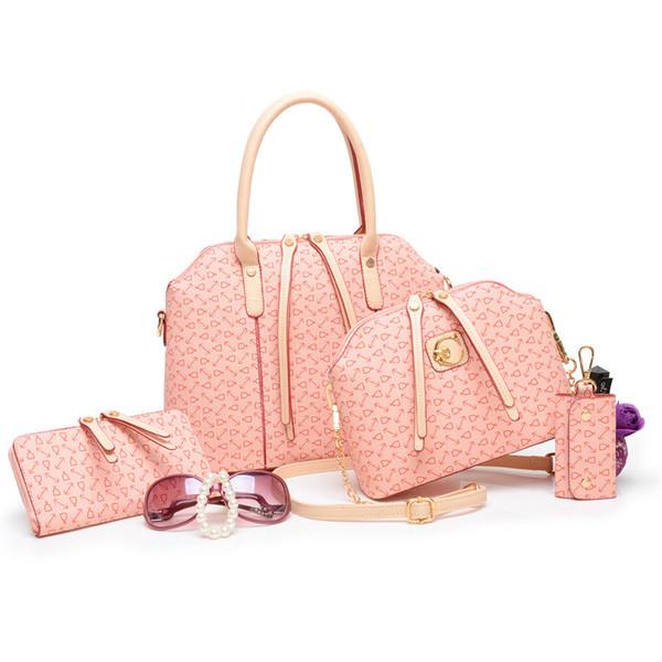 Gros-Hot Luxurious Fashion femmes une famille de quatre sacs à main en cuir PU sauvage sacs à bandoulière Messenger Sacs à bandoulière [XY-C1070]