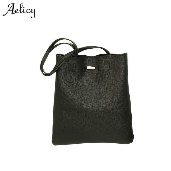 Aelicy Luxury Large Capacity Women Bags Pu Leather Messenger Shoulder Handbags Black/Gray Fashion Designer Female Crossbody Bags