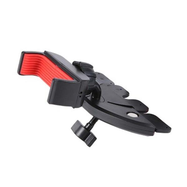 Car CD Player Slot Mount Holder High Quality Vehicle Phone Bracket Black Portable Adjustable Universal Flexible 360 degrees Rotation