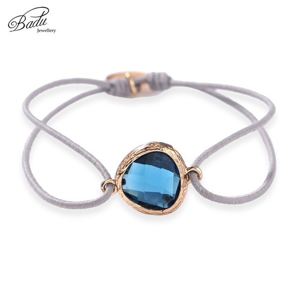 Badu Elastic String Bracelet Crystal Charming for Women Stone Beads Adjustable Bracelets Fashion Jewelry Gift for Best Friend