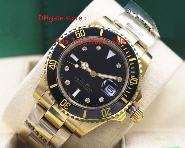 box+ Fashion Wristwatch Ceramic 18K Yellow Gold Watch 116618 Automatic 2813 Mechanical Mens Watches Men's Watch Top