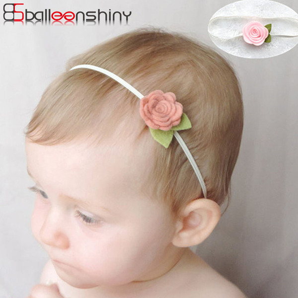 BalleenShiny Gül Çiçek Saç Bantları Yenidoğan Bebek Elastik Fotoğraf Sahne Bandı Güzel Şapkalar Moda Saç Aksesuarları