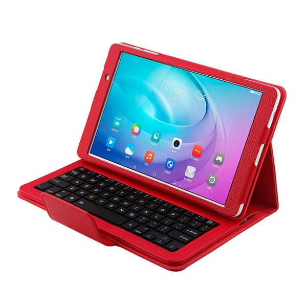For Huawei M2 10.1inch Tablet Detachable Wireless Bluetooth Keyboard + Leather Case 25.2*18.4*2.5cm