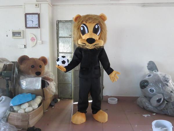 Qualität Cartoon Lion Party Kostüm Weihnachten Boy / Girl Lion Maskottchen Outfit Halloween Chirastmas Party Kostüm Maskottchen Kostüme
