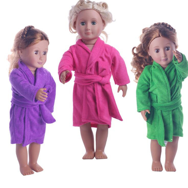Fits 43cm Baby Born Doll Rose Red Bathrobe Clothes For 18 Inch American Girl Doll Accessories The Kids Best Christmas Gift
