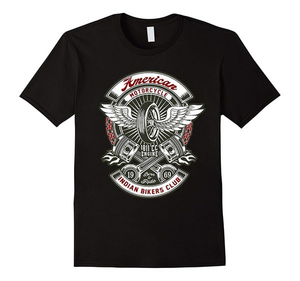 vintage American Motorcycle Indian Bikers Club T Shirt