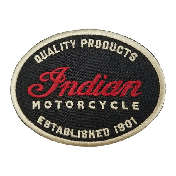 Cerniere del motociclo della parte anteriore del motociclo del club del motociclista della toppa del motociclo del motociclo della pelle di zona del motociclo di qualità indiana 1901 per abbigliamento Trasporto libero
