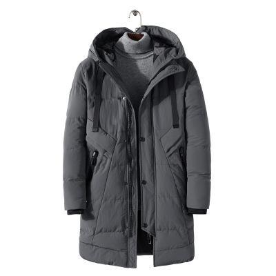 Plus Size 4XL COTTON Long Warm Outwear Hooded Softshell Men's Winter Jacket Man Trench Coat High Quality Parkas 3XL 2XL XL