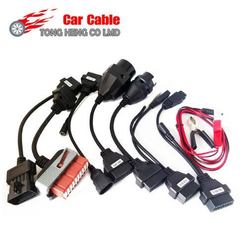 best selling Car Cable OBD OBD2 full set 8 car cables diagnostic Tool Interface cable for TCS CDP pro multidiag pro MVD Free Shipping