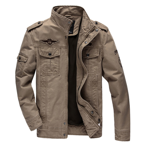 Casual Army Military Jacket Men Plus Size M-6XL Jaqueta Masculina Air Force One Spring & Autumn Cargo Mens Jackets Coat
