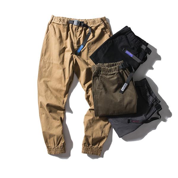 Homens Soltos Calça Casual Masculino Elástico Na Cintura Harem Calças Streetwear Hip Hop Calça De Carga Basculador Sweatpants Macacão
