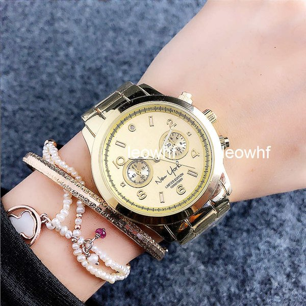 Michael Famous Brand New York limitado Reloj de dama de marca Vestido de lujo para mujer Relojes casual Reloj de acero inoxidable Reloj de diseño famoso de moda