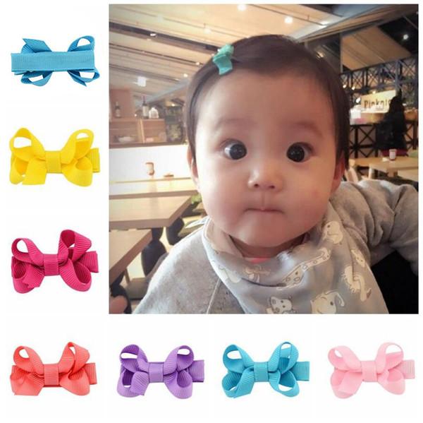 Cute Mini Girls Baby Hair Bows Hairpin Alligator Clips Grosgrain Ribbon Boutique Kids Barrettes Hair Accessories Gift