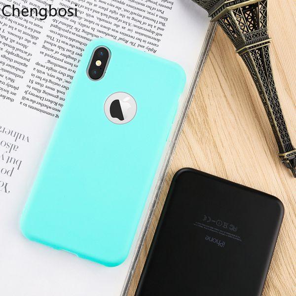 Caixa do telefone para iphone xs max xr tampa traseira ultra-fino fosco tpu shell foriphone 5 5s 6 6 s 7 8 plus anti-knock fitted case