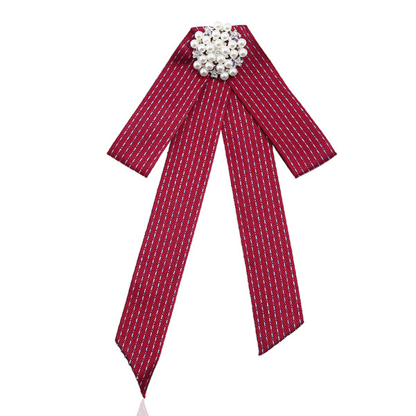 Sweet Fancy Shirt Dress Cloth Fabric Bow Tie Fashion Pearl Diamond Dot Bowtie Women Accessories Men Necktie Party Duftgold