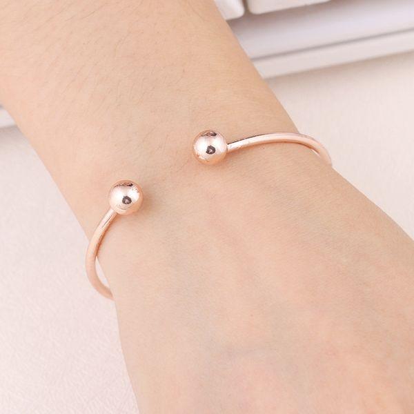 NS84 горячая продажа простой браслет-манжета золотой цвет браслет для женщин серебряный цвет металлический браслет ювелирные изделия оптом