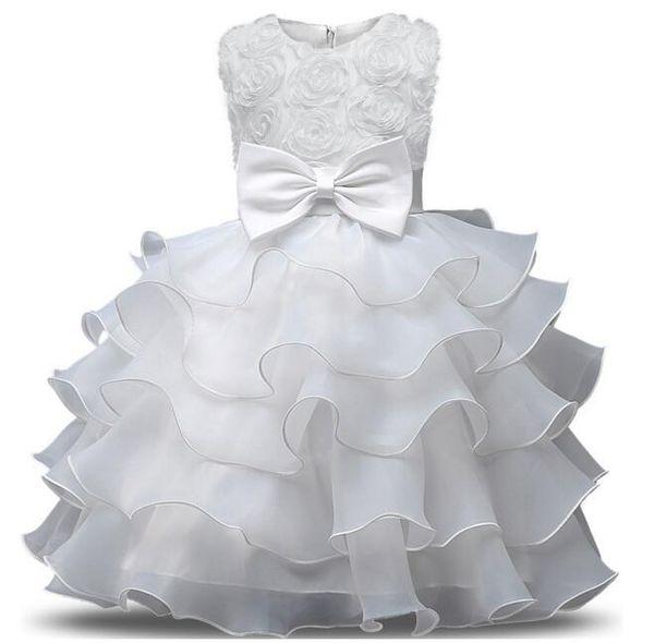 Abito da ragazza di fiori per matrimoni Bambina 0-10 anni Abiti da compleanno Abiti da prima comunione per bambini Abiti da ballo per bambina