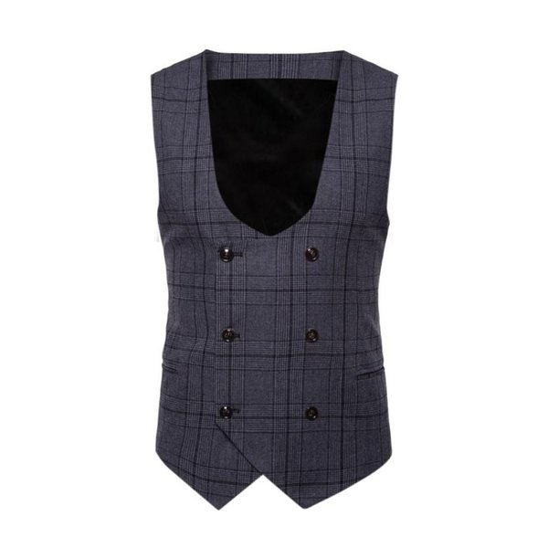 WOMAIL Suit Vest Men Jacket Sleeveless Button Casual Plaid Print Jacket Coat British Suit Vest Men Tops 2018 Dropshipping 18Aug8