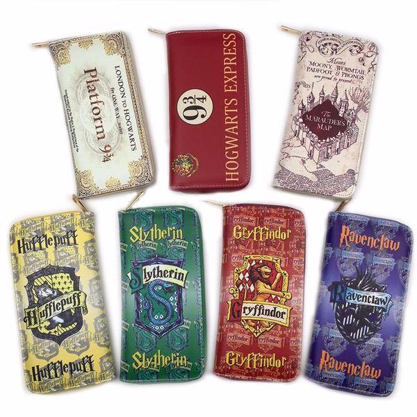 Harry potter wallet map wallet men women money bag pocket women card holder carteira mltifunction