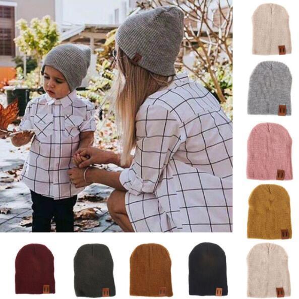 Femmes Cap Solide Couleur Tête Baggy Chapeau Chaud Skullies Crochet D'hiver Ski Beanie Crâne Slouchy caps