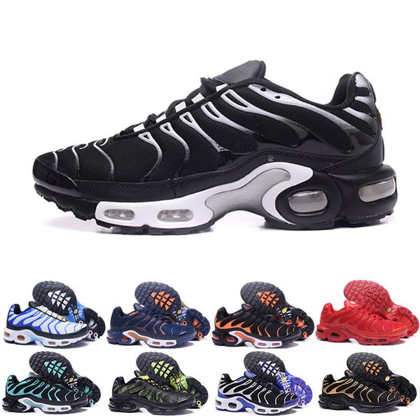 size 40 99980 feaea 2018 New Casual Shoes Men TN Shoes Tns Plus Air Fashion Increased  Ventilation Casual Trainers Olive Red Blue Black Sneakers Chausseures  Silver Shoes ...