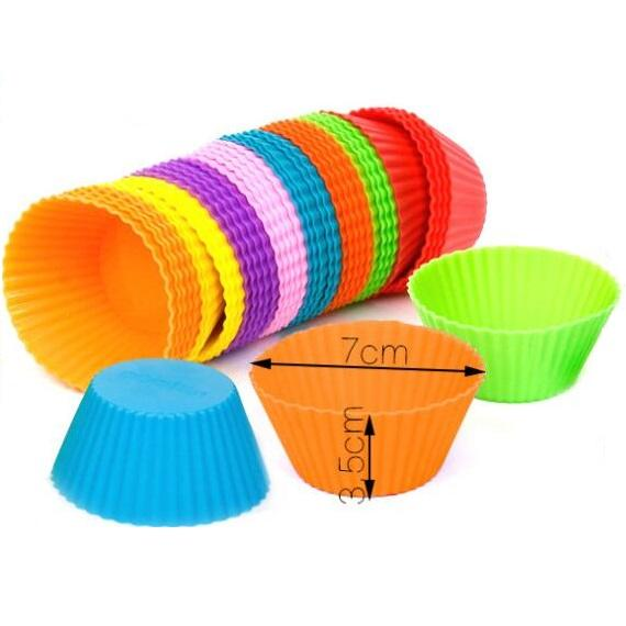 9 Colors Silicone Muffin Cake Cupcake Cup Cake Mould Case Bakeware Maker Mold Tray Baking Jumbo