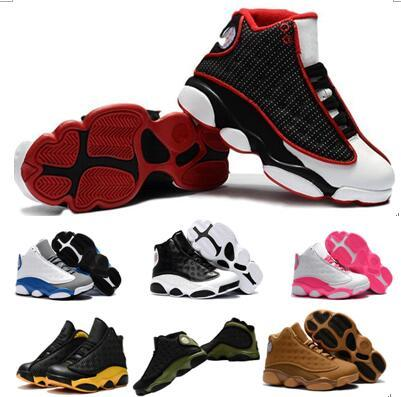 Großhandel 13s Bestseller Kinder Basketball Schuhe Günstige Sneaker 2018 Sportschuhe Familie Passende Outfits Schwarze Katzen Geschichte Des Fluges