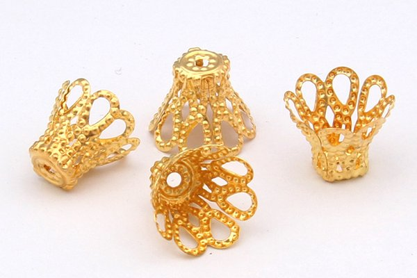 1000pcs/lot 6x6mm Plated Flower End Bead Caps Connectors Jewelry Findings Making Supplies