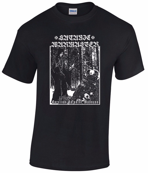 SATANIC WARMASTER T-shirt Carelian Satanist Madness Goatmoon Ad Hominem Tsjuder Print T-Shirt Man Short Sleeve T Shirt Top Tee