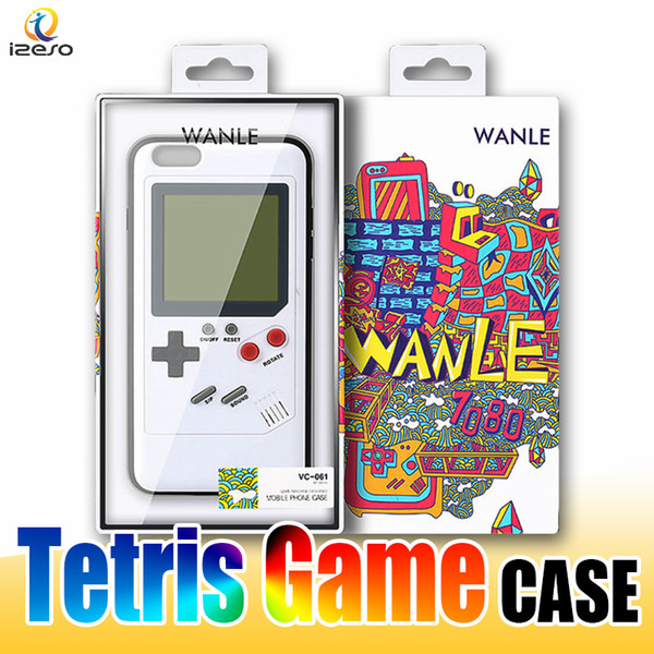 Gameboy Tetris Phone Cases Play Blokus Game Console Cover Classic Shockproof Protection Case for iPhone X 6 6s 7 8 Plus Retail packaging