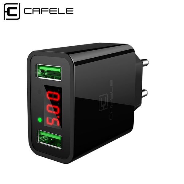 wholesale Dual USB Mobile Phone Charger for Samsung Universal Portable USB mobile charger Input AC 110-240V Output DC 5V 2.4A