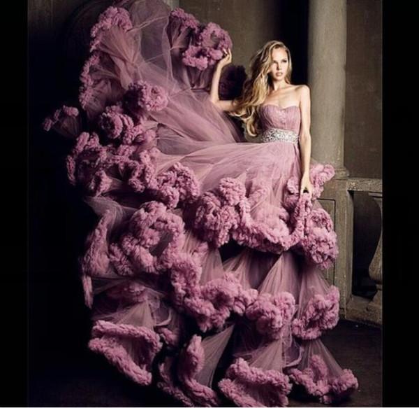 Вечернее платье Yousef aijasmi Длинное платье Strapiess Бальное платье Sweep Train Кристалл Серебро Zuhair murad Ким Кардашьян