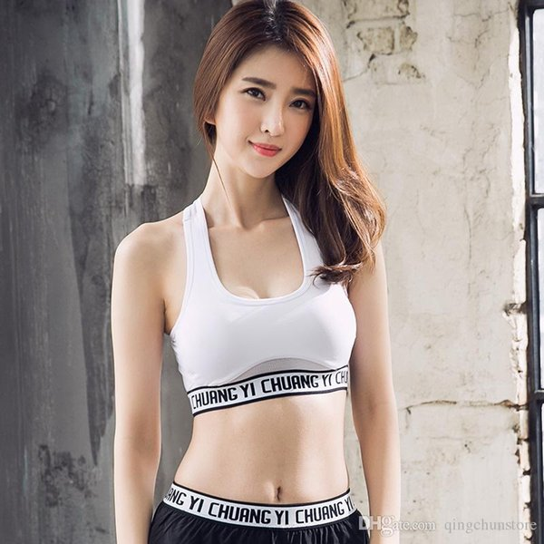 Explosion models hollow belt high-intensity shockproof sports yoga vest training beauty back underwear female fitness running bra