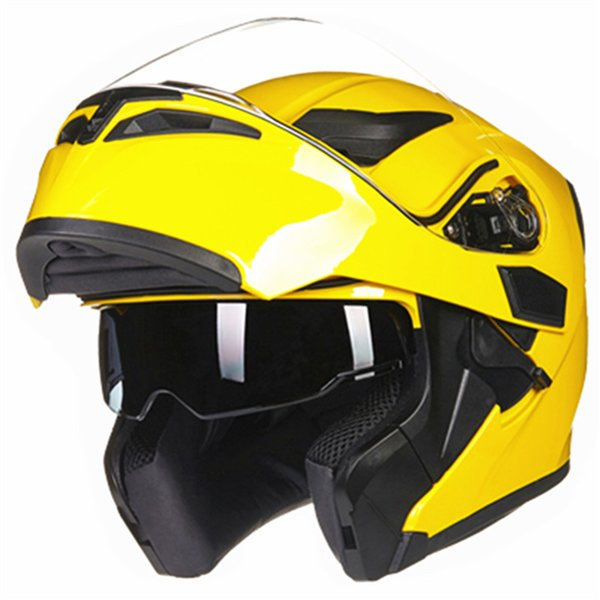 Light-weight Full Face Flip Up Dual Visor Comfortable and Soft Motorcycle Helmet Optional Color of Glass stylish and practical