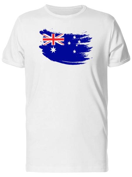 Satın Al Boya Kontur Avustralya Bayrağı Erkek Tee Image Tarafından