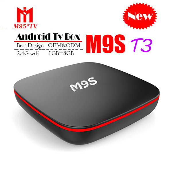2018 Cheapest M9S T3 Android 7.1 Tv Box Quad Core 1GB 8GB H3 Chip Support Wifi 4K 3D Media Player Smart Tv Box Better TX2 MXQ PRO M96X S8