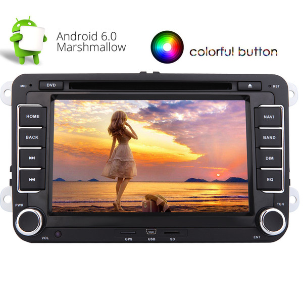 Eincar Android 6.0 Quad-core Double Din Car Stereo 7'' Auto Radio Car dvd Player for Jetta Golf GPS Nav Mirror Link Wifi