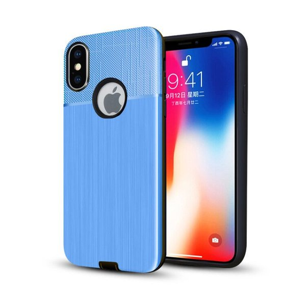 Hybrid Armor Phone Case For Samsung Galaxy M10 M20 S10 S10E S10 Plus For iPhone XS XR XS Max Shockproof Brushed Cover D