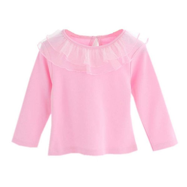 e0c0527f02660 0-24M Baby Girl Cute Turn-down Collar Long Sleeve Lace Blouse Button Down