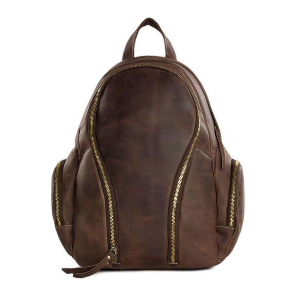 ROCKCOW Men&Women Genuine Leather Travel Backpack Luggage Duffle Bag Large JW10