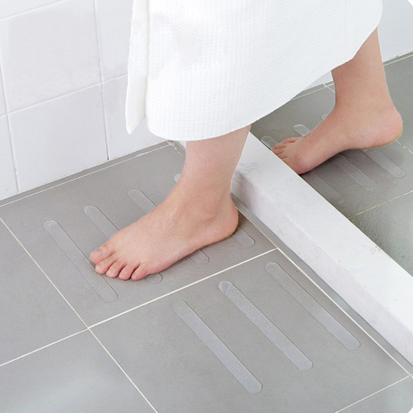 5Pcs Bathroom Non Slip Shower Strips Anti Slip Bath Grip Stickers Stairs Strips Flooring Safety Tape Swimming Pools Tools