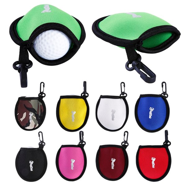 New Portable Neoprene Golf Ball Holder Bag Storage Pouch Pocket With Clip Accessory Useful