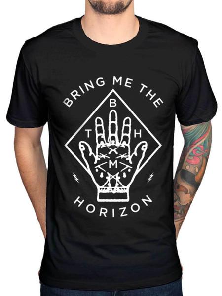 Официальный Принесите мне Горизонт Алмаз рука новый унисекс футболка группа металла Merch