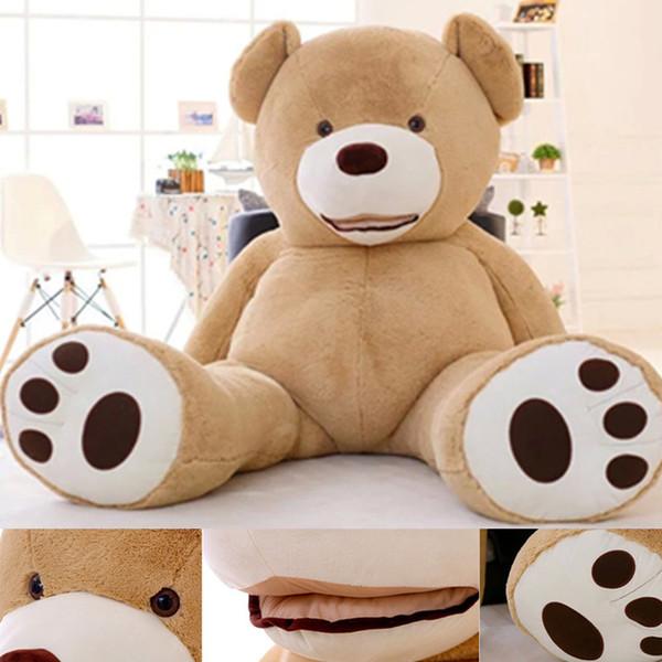 200 cm DIY oso de peluche piel grande grande enorme oso de peluche juguetes de peluche Costo marrón oscuro marrón claro Hight calidad