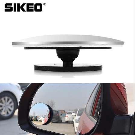 1pc Car Styling 360 Degree Framless Blind Spot Mirror Wide Angle Round HD Glass Convex Rear View Mirrors