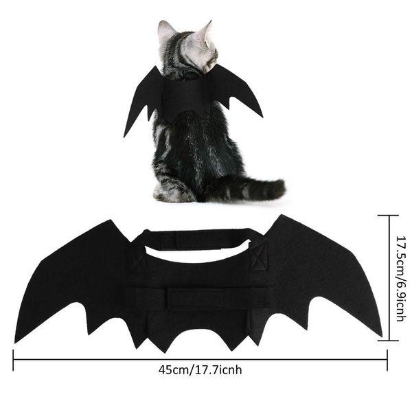 Acheter Halloween Chat Bat Wings Collier Harnais Décor Chiot Pet