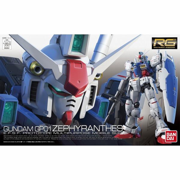1PCS RG 12 1/144 RX-78 GP01 Zephyranthes Gundam Mobile Suit Assembly Model Kits Anime education toys juguetes